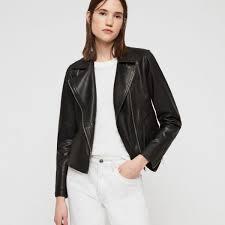 all saints vela biker leather jacket for women