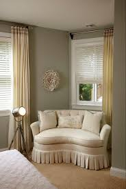 bedroom sitting room furniture. Grey Wall With Chairs For Bedroom Sitting Area At The Corner Plus Long Curtains And White Room Furniture B