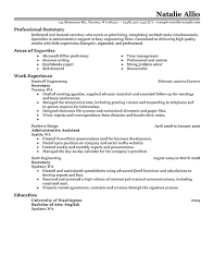 sample work resume