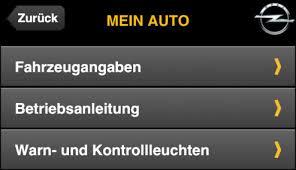 my opel service app