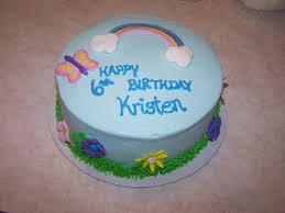 Rainbowbutterfly Birthday Cake Beth Anns