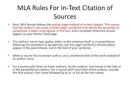 Ppt Proper Use Of Mla Format Powerpoint Presentation Id2517826