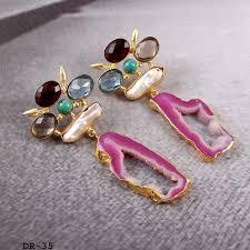 druzy fashion earrings