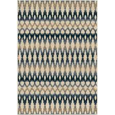 orian rugs indoor outdoor southwest links ikat ombre multi area rug 5 2 x