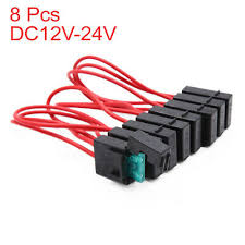 <b>8pcs 30A</b> Plastic Wired Mini Inline Blade Fuse Holder Red for Car ...