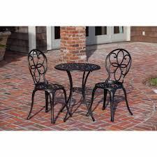 crossman piece outdoor bistro: patio sense antique bronze cast aluminum  piece bistro set walmartcom