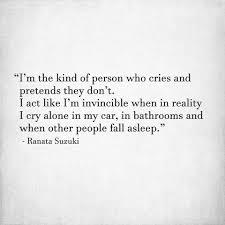 Im The Kind Of Person Who Cries And Ranata Suzuki Quotes