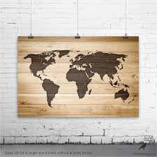 map of decor rustic wood large world map poster wall art print gifts and zarzosa
