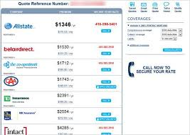 Insurance Quote Best Car Insurance Quotes Online Auto Insurance Quote Comparison Tool