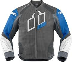 icon hypersport prime jackets leather black blue icon motorhead leather jackets est