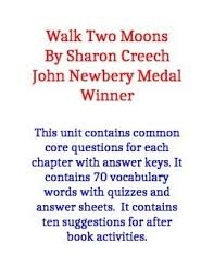 best walk two moons images walk two moons  walk two moons common core questions and vocabulary