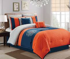 blue and orange duvet cover free cotton bed linens