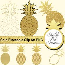 gold pineapple clipart. this is a digital file gold pineapple clipart e
