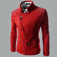 mens red pea coat fall winter wool trench coat men pea coat male jackets and coats