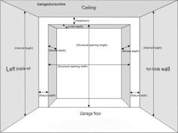 what is the standard width of a double garage door ideas