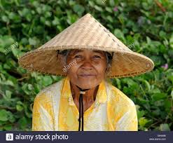 Asian farmers straw hat