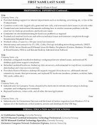 Desktop Support Resume Examples Beauteous Resume Format For Experienced Desktop Support Inspirational