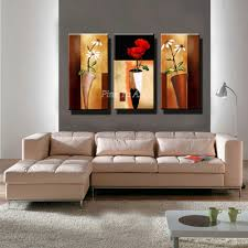 Modern Paintings For Living Room Aliexpresscom Buy 3 Panel Hd Print Cheap Decorative Flower