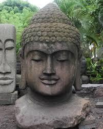 custom large garden buddha bust 59