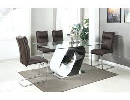 exotic glass top dining tables round table nz modern