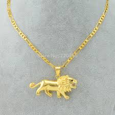 18k real gold filled plated lion head pendant necklace link chain men high quality jewelry womenjpg