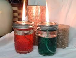red green diy mason jar oil lamps