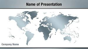 Powerpoint World Silver World Map Powerpoint Templates Silver World Map