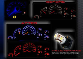 led light upgrade for factory speedometer and gauge cluster ambient interior lighting