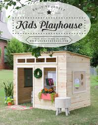 how to build a diy kids indoor playhouse free building plans by jen woodhouse