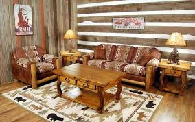 vintage modern living room furniture featuring comfy fretwork patterned couch including classic cabriole leg rustic wooden table with drawers plus barn