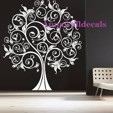 lucky tree decal wall decals vinyl wall decal wall by annaandnana on tree wall art decals vinyl sticker with 39 tree wall art decals family inspirational love tree wall art
