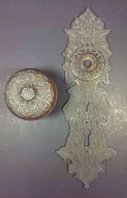 2 Antique Aesthetic Movement Victorian Era Bronze Door Knob