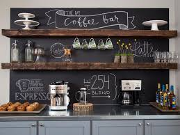 Shop for bar wall decor online at target. Home Coffee Bar With Chalkboard Wall Hgtv