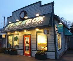 gooseneck barn lights customized for local seattle grocery