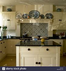Granite Worktops For Kitchens Granite Worktop On Island Unit In Country Kitchen With Fitted