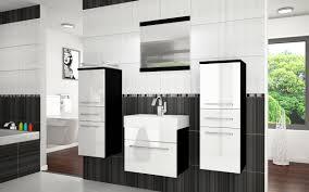 Badezimmermöbel Set Superior Contrasto 3 Weiß Hochglanz Gaja