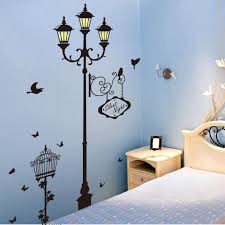 Small Picture New Bird Street Lamp Silent Night Wall Stickers Home Decor Living