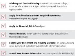 transfer student applicants admissions rutgers university newark transfer and transform student checklist