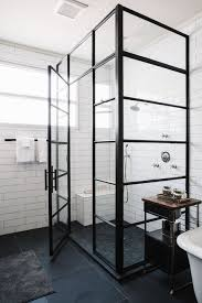 beautiful shower design with steel frames