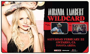 Miranda Lambert Seating Chart Miranda Lambert Toyota Arena