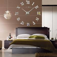 large office wall clocks. fas1 modern diy large wall clock big watch decal 3d stickers roman numerals home office removable decoration for living room silver battery clocks
