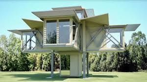 Foldable Houses Incredible Pre Fab Folding Houses Expand To 3x Their Transport Size