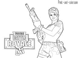 Fortnite Battle Royale Coloring Page Jungle Scout Giochi