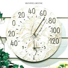 alluring outdoor clock and thermometer in 24 metal indoor wall with illuminated face