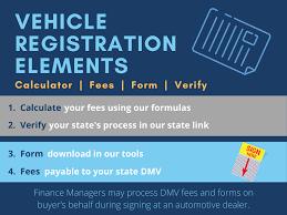 manual car registration calculator