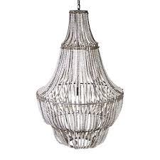 wood beaded chandelier wonderful corinne parts white beam diy from wooden bead chandelier uk
