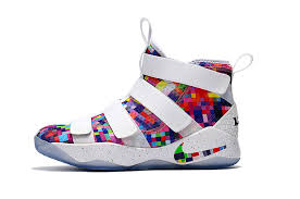 lebron xi soldier. nike lebron soldier xi men shoes-white/rainbow xi b