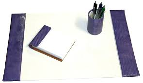 desk blotter set 15x22 reptile leather pad