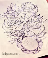розы и медальон хельга хаген художница тату мастер