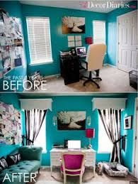 office room diy decoration blue. Cute Office Makeover At The Decor Diaries By Scarlett Lillian Tiffany Blue, Black, And White For Office/guest Bedroom. With A Hint Of Pink? Room Diy Decoration Blue